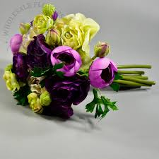 ranunculus bouquet 9 artificial ranunculus bouquet in mixed colors wholesale