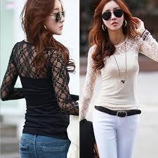 see thru blouse pics 2018 white black lace crochet see thru bodycon tops