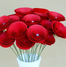 Make Your Own Paper Flowers - winnerdogfinds handmade paper flowers in bouquet or stems
