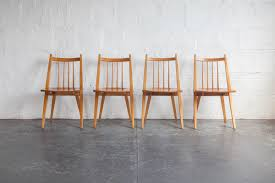 Set Of Four Dining Chairs Maple Dining Chairs Set Of Four The Mod