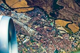 Birds Eye View Map Free Images Landscape City Airplane Plane Flight Map World