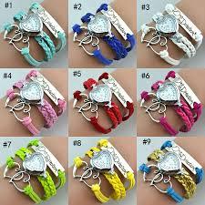 bracelet design watches images Quartz heart wrist watch for fashion women bracelet watch jpg