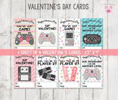school valentines printable s cards gamer valentines cards