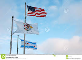 Chicaho Flag Illinois Chicago And American Flag Stock Photo Image 45362126
