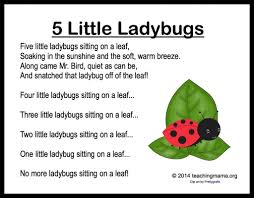 5 little ladybugs song and fingerplay