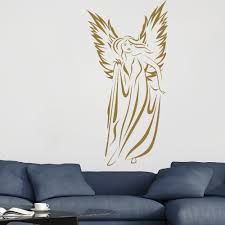 Angel Wings Home Decor by Floating Angel Female Outline Angels And Wings Wall Sticker Home