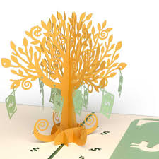 money tree pop up birthday card lovepop