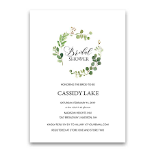 bridal invitation greenery bridal shower invitations eucalyptus wreath