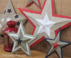 How To Make Barn Stars Pottery Barn Burlap Stars Knock Off Tutorial The Kim Six Fix