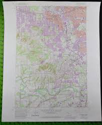 Map Of Beaverton Oregon by Beaverton Oregon 1984 Usgs Topographic Map 22x27 Inches What U0027s
