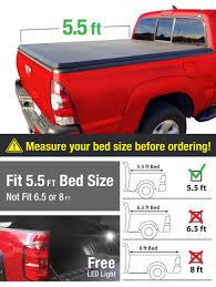 Ford F 150 Truck Bed Dimensions - amazon com premium tcf371041 tri fold tonneau truck bed cover