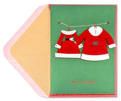 his u0026 hers handmade santa suits christmas greeting cards papyrus