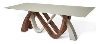 aico trance european modern rapture glass top dining table usa