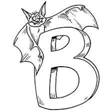 coloring page of a bat top 10 free printable letter b coloring pages online