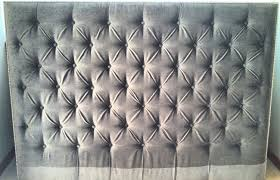 slate gray diamond tufted headboard featuring micro also velvet
