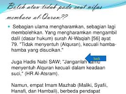 Wanita Datang Bulan Boleh Baca Quran Ppt Bu Fania