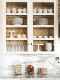 Wallpaper Inside Of Cabinets Kitchen Cabinet Ideas  Easy DIY - Kitchen cabinet wallpaper
