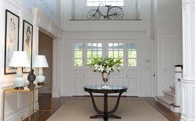 Entry Foyer Table Brass And Glass Console Table Transitional Entrance Foyer