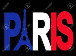 Paris Flag Image Paris Text With Eiffel Tower And French Flag Illustration Stock