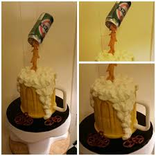 beer cake gravity defying beer can above a beer mug cake yelp