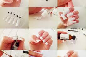 french tips acrylic nails how you can do it at home pictures
