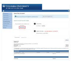 making your online payment columbia university student financial