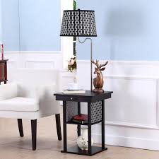 Floor Lamps Brightech Store Madison Floor Lamp With Built In Two Tier Black