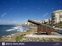 Spanish Mediterranean Cannon On The Beach Torrox Costa Beach Canon Spanish Beaches