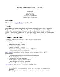 Sample Pharmaceutical Resume Samples Of Nursing Resumes Resume For Your Job Application