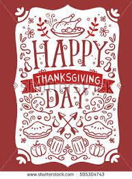 vector set thanksgiving illustration roasted turkey stock vector