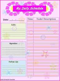 5 free daily calendar template ganttchart template