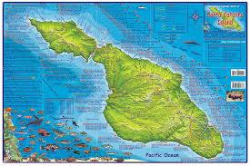 santa map santa island franko s fabulous maps of favorite places