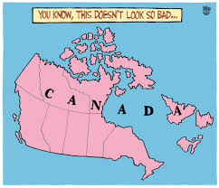 Toronto Canada Map by Potential Map Of Canada A Rejected Toronto Star Editorial Cartoon