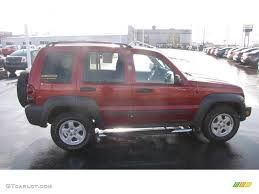 red jeep liberty 2007 2007 inferno red crystal pearl jeep liberty sport 4x4 25300228