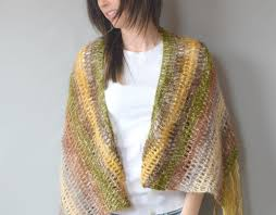 crochet wrap one skein crochet boho shawl pattern in a stitch