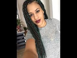 how many bags for big box braids triangle parted box braids easy youtube