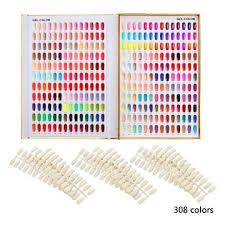 makartt golden 120 216 308 nail color chart display book nail