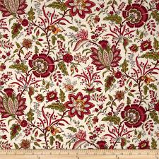williamsburg virginia floral red cream from fabric com for 9 20