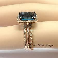 london blue topaz engagement ring 998 emerald cut london blue topaz engagement ring trio sets pave