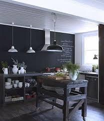 cuisine mur noir deco mur de cuisine cuisine le bleu inspire la dco de la cuisine