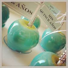 tiffany blue candy apples glamour food pinterest blue candy