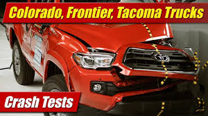 nissan tacoma 2006 iihs crash test chevrolet colorado gmc canyon nissan frontier