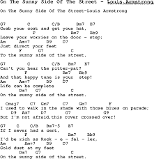 Halloween Poems And Songs Song On The Sunny Side Of The Street By Louis Armstrong Song