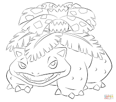 venusaur mega pokemon coloring pages for kids pokemon characters