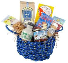maine gift baskets maine gifts gourmet food in a lobster rope basket