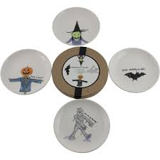 set 4 rae dunn magenta halloween friends witch side cake canape