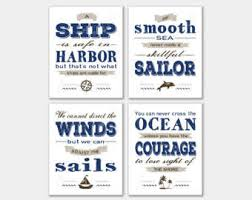 wedding quotes nautical a ship is safe in etsy