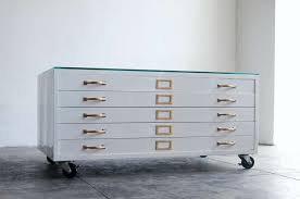 Gloss White Filing Cabinet Flat File Cabinet Coffee Table In High Gloss White With Brass