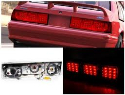 mustang led tail lights ford mustang 1987 1993 red led tail lights a122plgy109