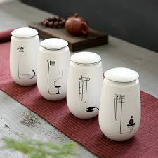 white kitchen canister sets ceramic sundries tea white porcelain porcelain tea storage jar tea caddy